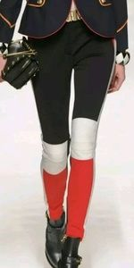 Moschino black, white, and red pants. Size US 6.